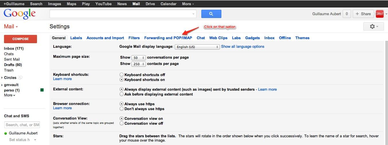 Gmvault: gmail backup